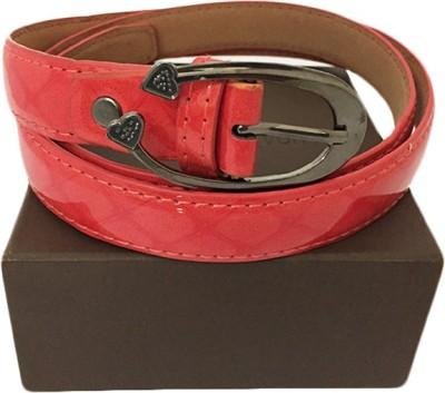 Zaira diamond Women Red Canvas Belt