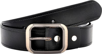 Leo Men Formal Black Genuine Leather Belt