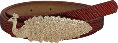 Aadi And Sons Women Party Red Artificial Leather Belt