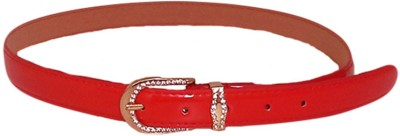 Merastore Women Formal, Casual, Evening/Party Red Artificial Leather Belt
