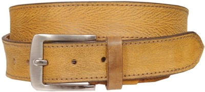Swastika Men Casual Brown Genuine Leather Belt