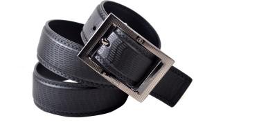 Drakemen Men Casual, Formal Black Genuine Leather Belt