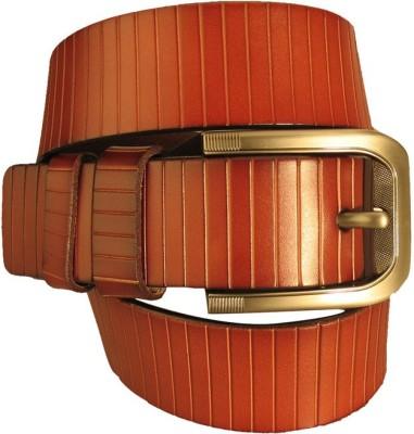 Lion Heart Men Casual Maroon Genuine Leather Belt
