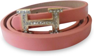 Rege Girls Casual Pink Artificial Leather Belt