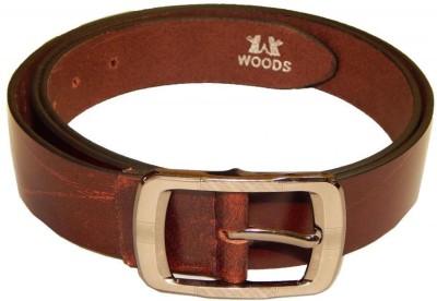 Woods Men Casual Brown Genuine Leather Belt