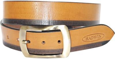 Hadwin Men Formal Yellow Genuine Leather Belt
