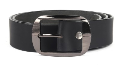 abrazo Men Black Genuine Leather Belt