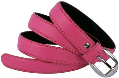 Modishera Women Party, Casual Pink Artificial Leather Belt