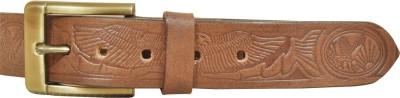 Adhaans Men Casual Brown Genuine Leather Belt