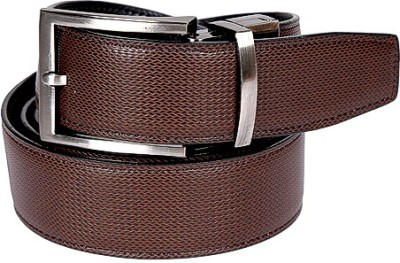 Edinwolf Men, Boys Formal, Party, Casual Black, Brown Genuine Leather Reversible Belt