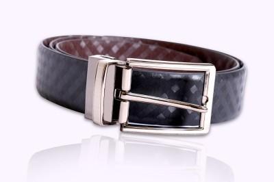 Hangover Men Formal Black Genuine Leather Reversible Belt
