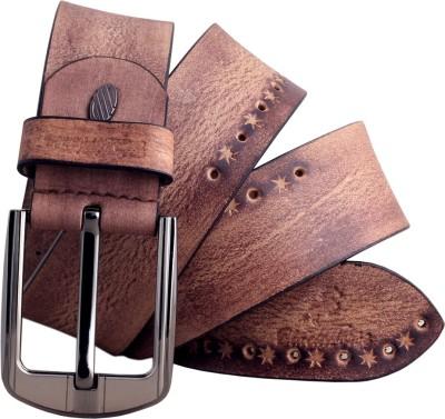 Black Horse Men Brown Genuine Leather Belt