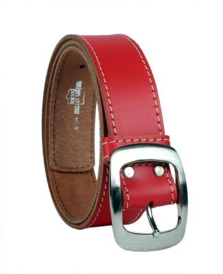 Revo Men Casual Orange Genuine Leather Belt