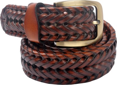 Cavallo Men, Women Casual, Evening, Party Tan Genuine Leather Belt