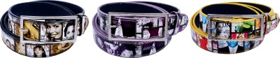 Contra Girls Purple, Yellow, Black Artificial Leather Belt