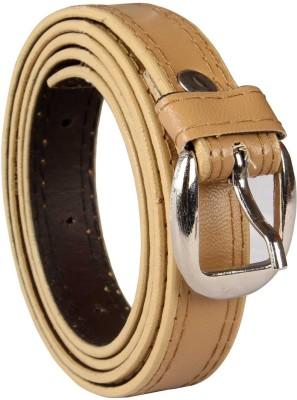 viaharp Boys, Men, Girls, Women Casual, Party, Formal, Evening Beige Artificial Leather Belt