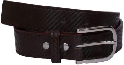 Visach Men Formal Brown Artificial Leather Belt