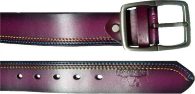 Longhorns Men Casual Purple Genuine Leather Belt