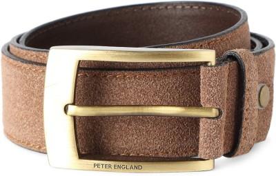 Peter England Men Grey Artificial Leather Belt