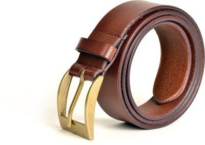 Just Differ Men, Boys Casual, Evening, Formal, Party Brown Genuine Leather Belt