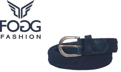 Fogg Fashion Store Girls, Women Casual, Formal, Evening Blue Canvas Belt