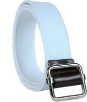 Revo Men Casual White Canvas Belt