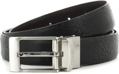 Hidesign Men Black, Brown Reversible Belt