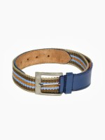 Newhide Men Casual Blue Genuine Leather Belt