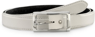 Arum Women White Genuine Leather Belt