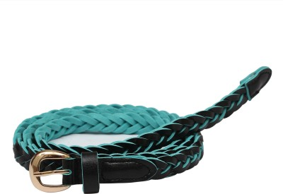 SRI Women Casual Black, Green Artificial Leather Belt