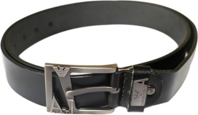 Smartszone Men Formal Black Genuine Leather Belt