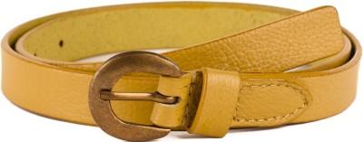 Paradigm Design Lab Women Formal Yellow Genuine Leather Belt