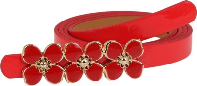 Aadi And Sons Women Casual Red Artificial Leather Belt