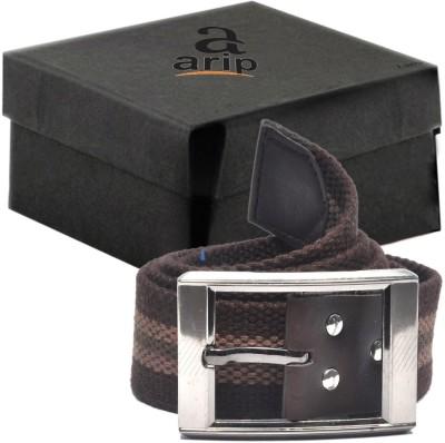 ARIP Boys, Girls, Men, Women Formal Brown Canvas Belt