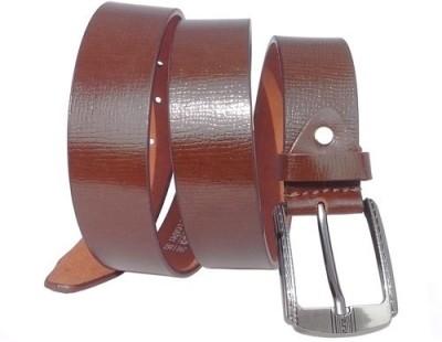 Wholesomdeal Men Formal Brown Artificial Leather Belt
