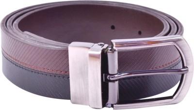 AER LEATHER Boys, Men Formal, Evening, Party Black Artificial Leather Belt
