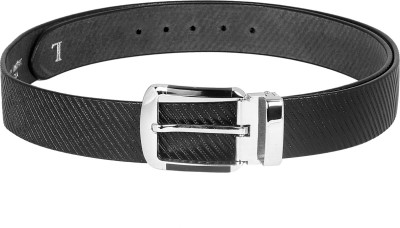 Ligans Ny Men Casual, Formal Black Genuine Leather Belt