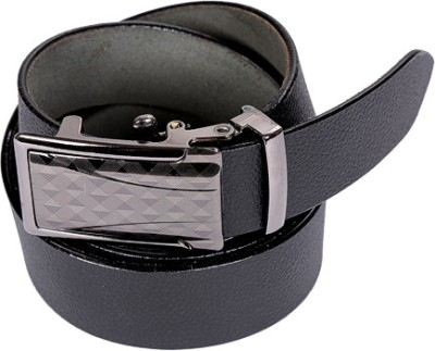 Edinwolf Men, Boys Black Genuine Leather Belt
