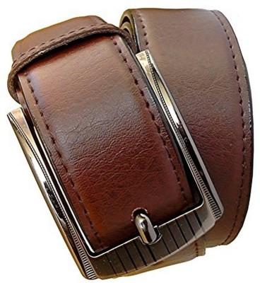 KRG ENTERPRISES Boys, Men Formal, Party, Casual Maroon Genuine Leather Belt