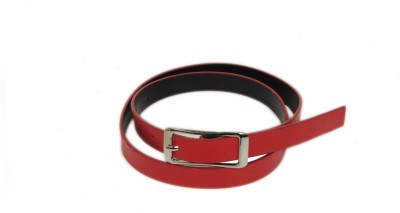 Bs Spy Women Casual Red Artificial Leather Belt