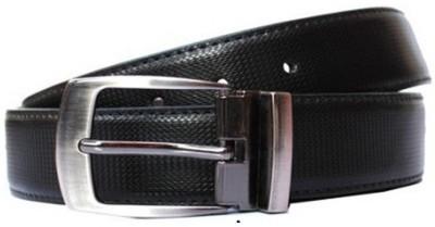 JK Import Men Black Genuine Leather Belt