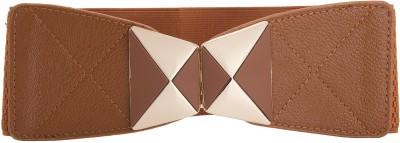Beauties Bliss Girls, Women Casual Brown Artificial Leather Belt
