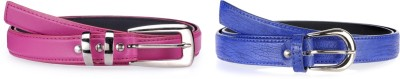 Allura Women Evening, Party, Casual, Formal Pink, Blue Synthetic Belt