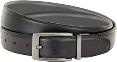 kamalgarments Men Black Artificial Leather Belt
