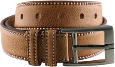 pardhan Men Brown Genuine Leather Belt