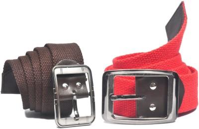 ARIP Men, Boys Formal Brown, Red Canvas Belt