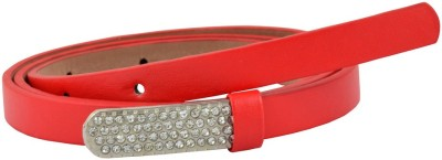 Antiformal Women Party, Casual Red Artificial Leather Belt