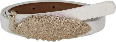 Aadi And Sons Women Party White Artificial Leather Belt