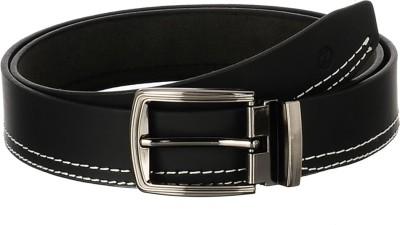 Osaiz Men, Boys Formal Black Genuine Leather, Metal Belt