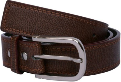 YOURS LUGGAGE Men, Boys Casual, Evening, Formal, Party Brown Artificial Leather, Genuine Leather, Synthetic Belt